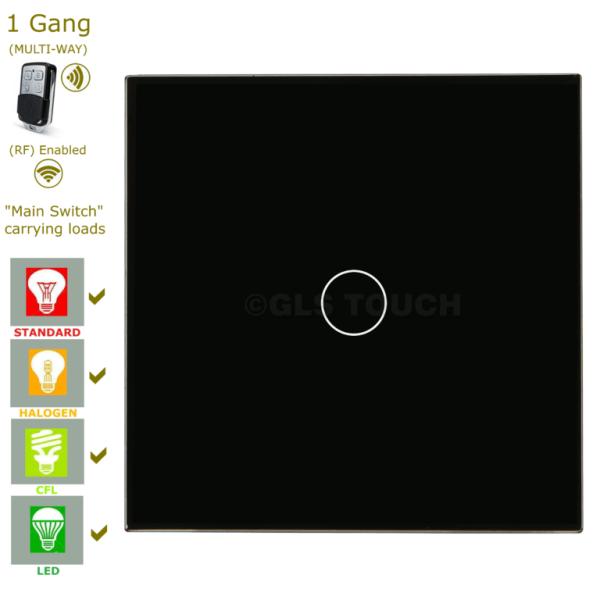 сензорен ключ с дистанционно черен единичен