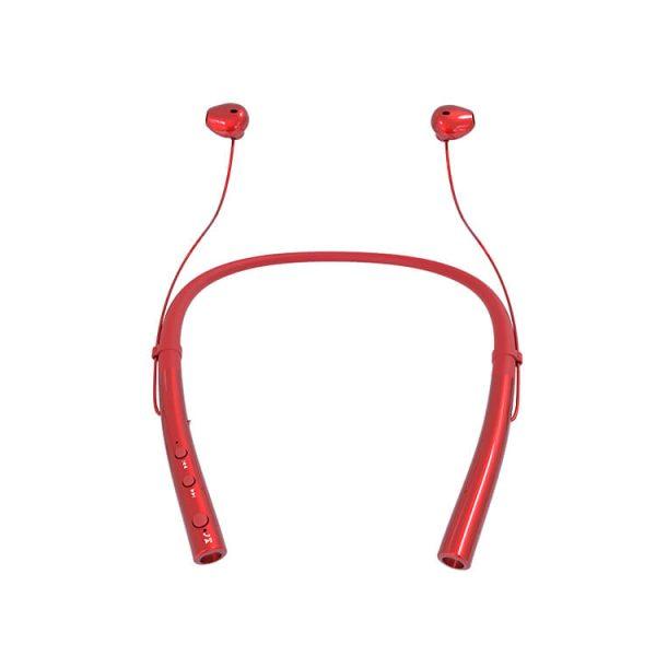безжични слушалки спортни червени