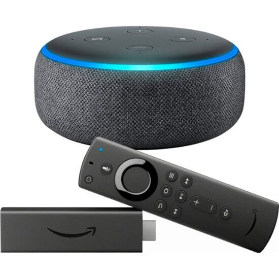 fire tv amazon echo dot 3
