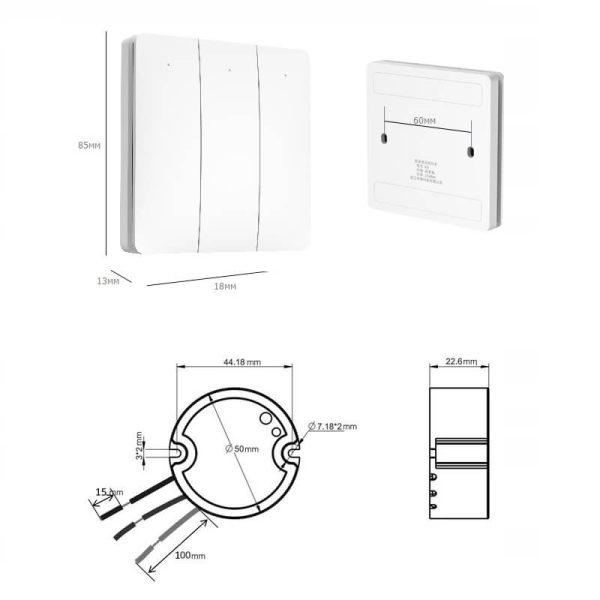 размери на троен кинетичен ключ и контролер