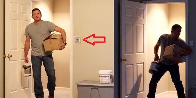 използване на сензорен ключ за движение в коридора