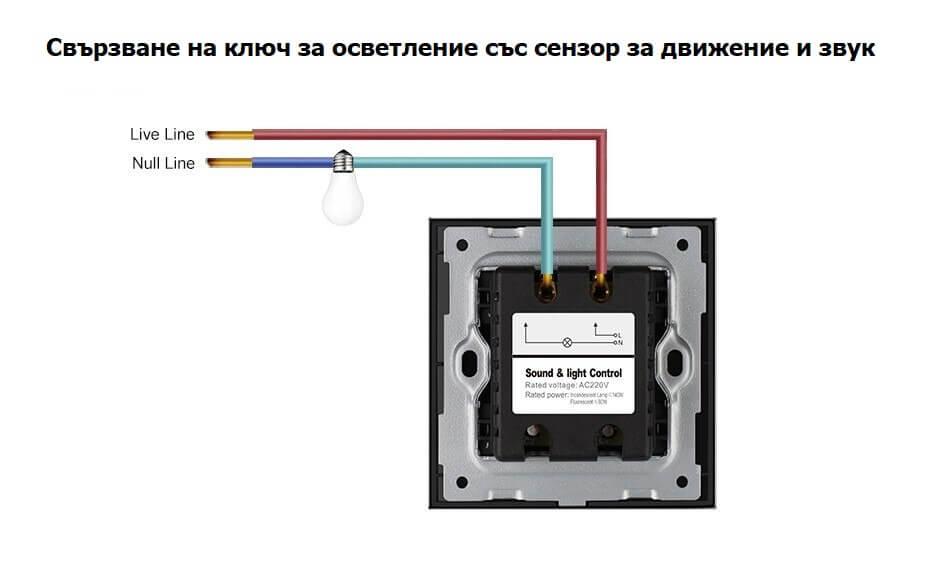 свързване на сензорен ключ за осветление
