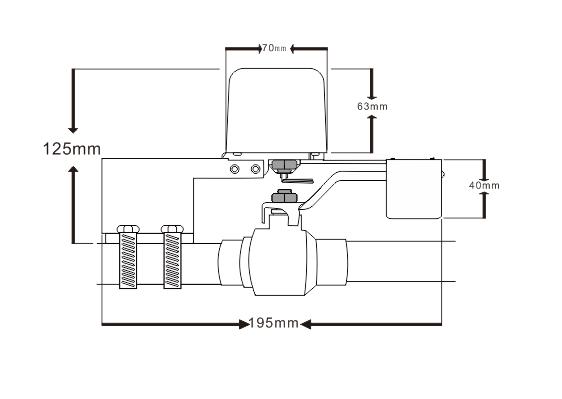 размер на WiFi клапан за спирателен кран