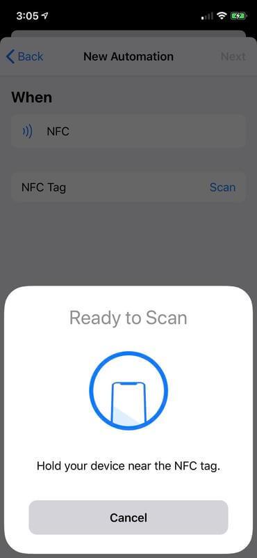 ios13 сканиране на nfc tag
