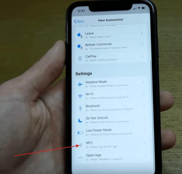 shortcuts приложение nfc автоматизация