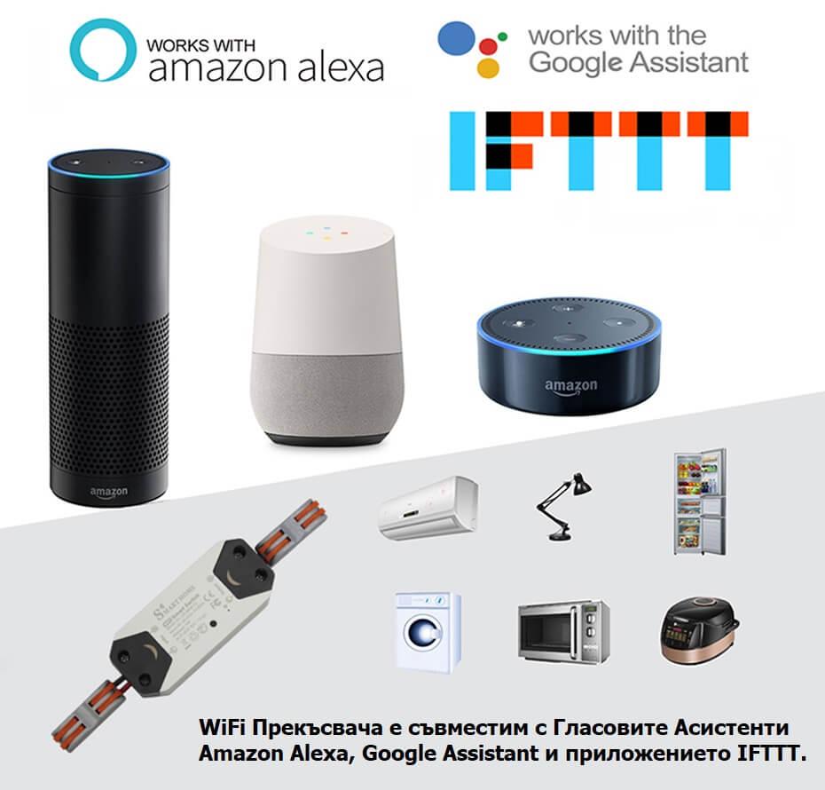 WiFi прекъсвач гласови асистенти