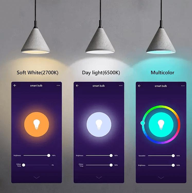 цветна температура умна лампа