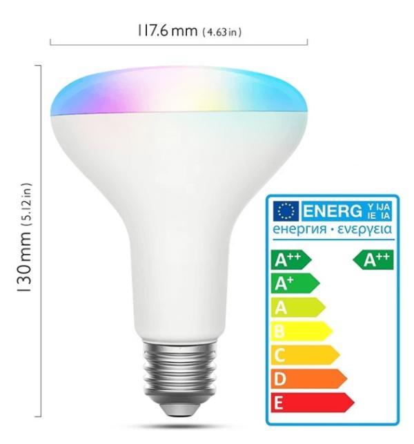размер и характеристики WiFi лампа