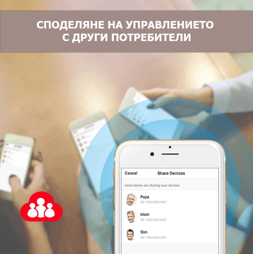 споделяне на управление на WiFi крушка