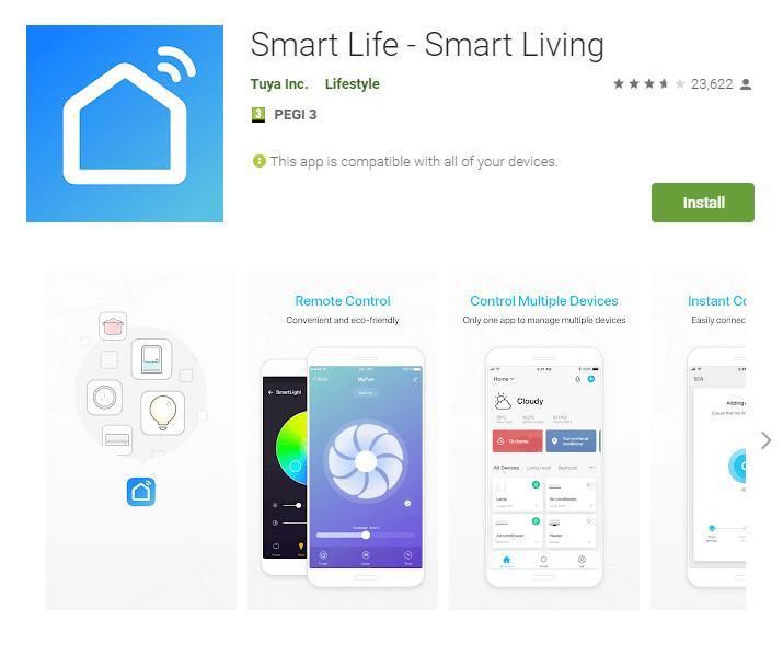 инсталация на Smart Life