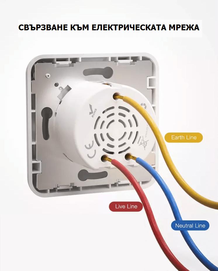 свързване на WiFi контакт към електричество