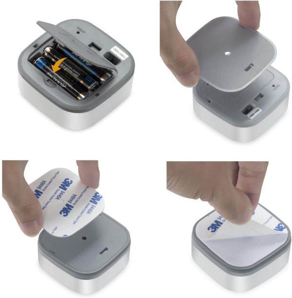 поставяне на батерии PIR сензор