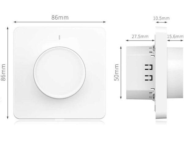 размери на WiFi димер