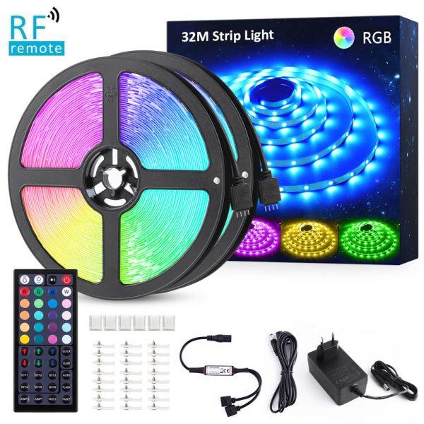 RGB LED лента 32м с RF дистанционно
