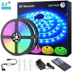 RGB LED лента с RF дистанционно 12 метра