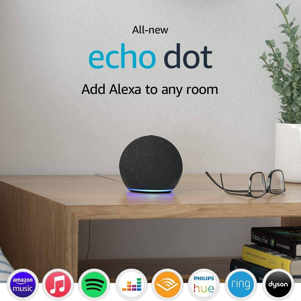 echo dot 4th gen charocal