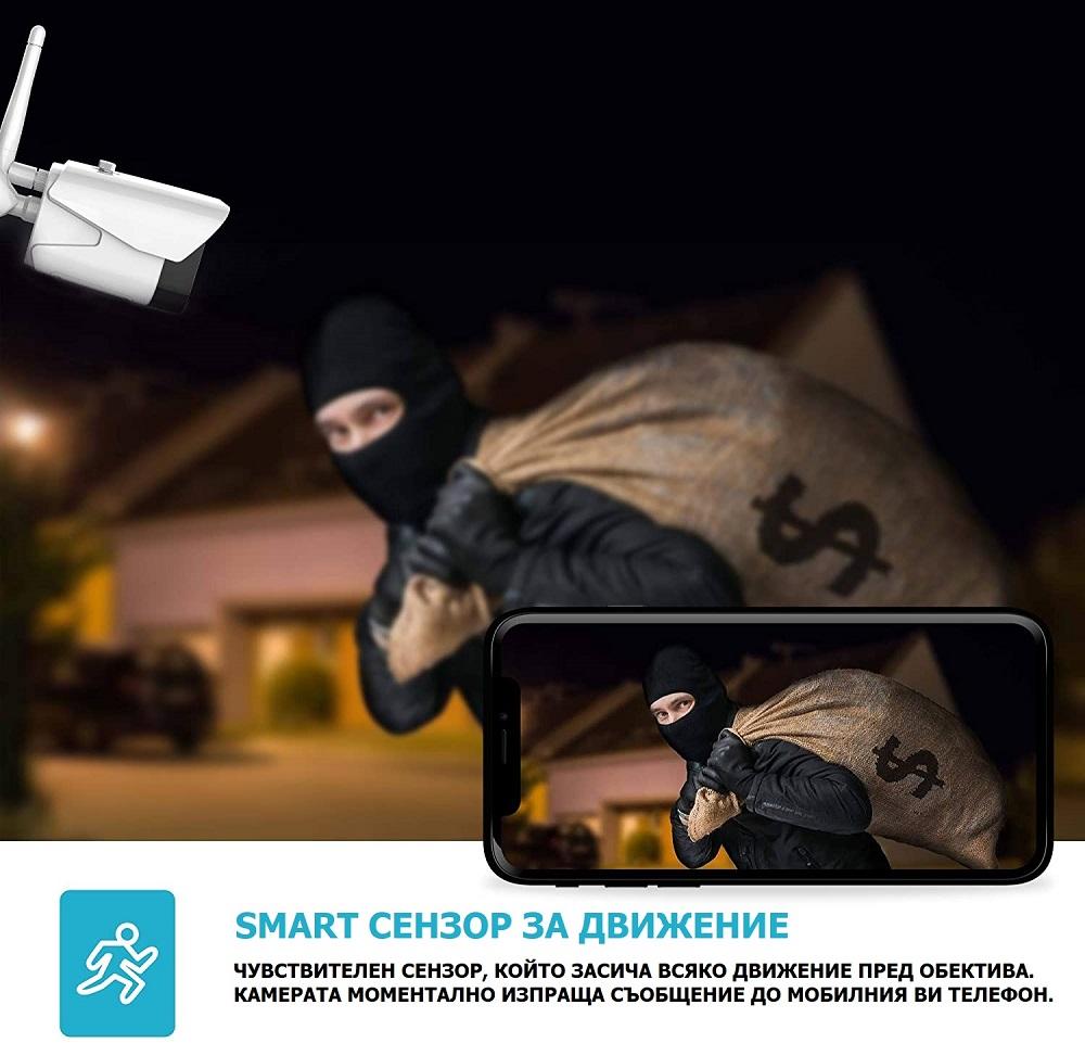WiFi камера за видеонаблюдение на крадци