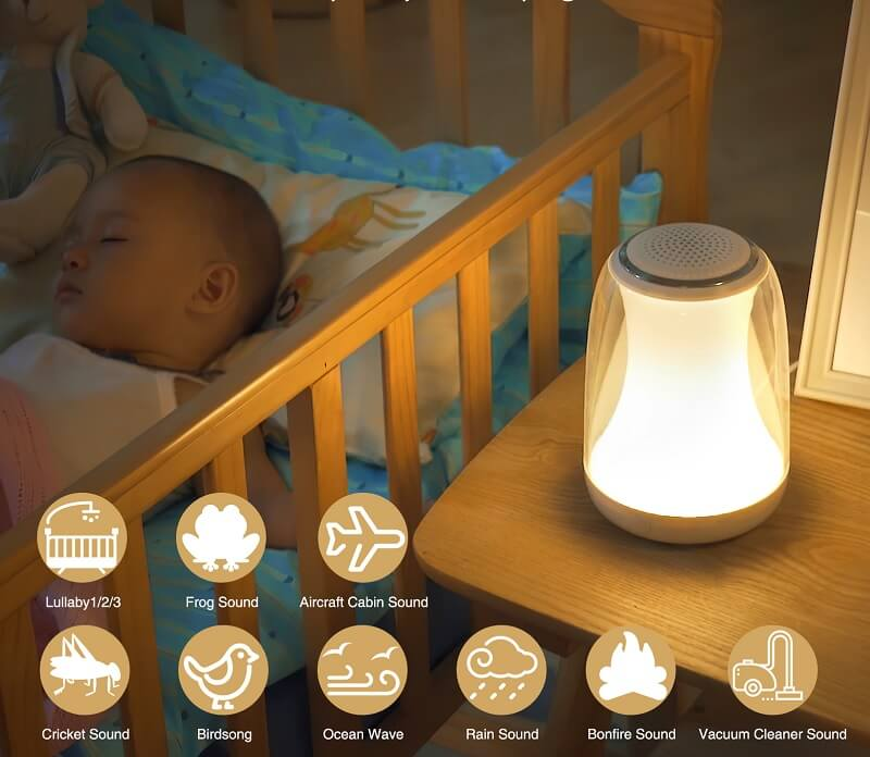 приспивни звуци от лампа