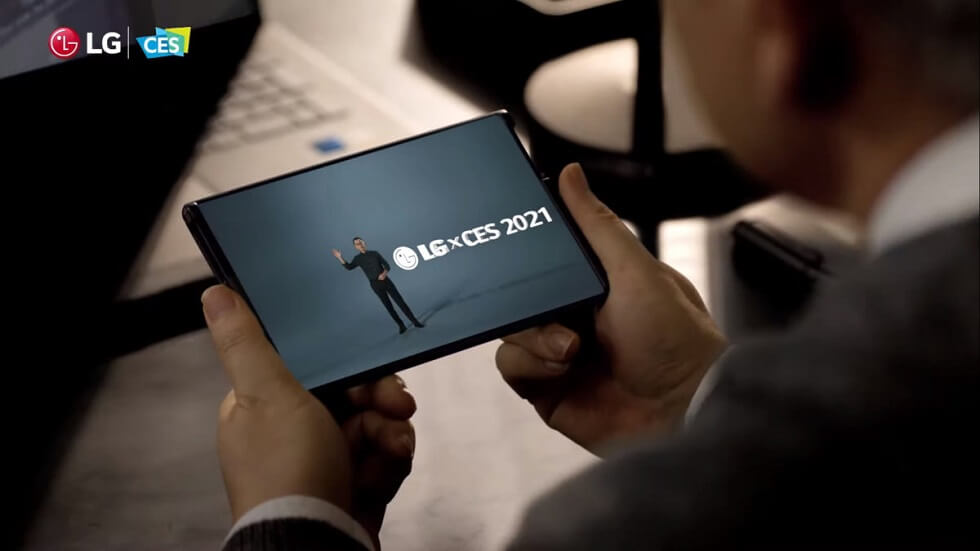 LG Slide Rollable телефон