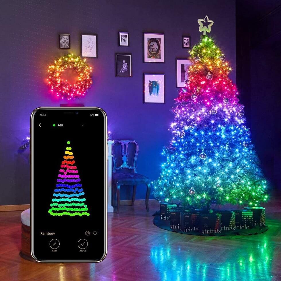 twinkly лампички за коледна елха