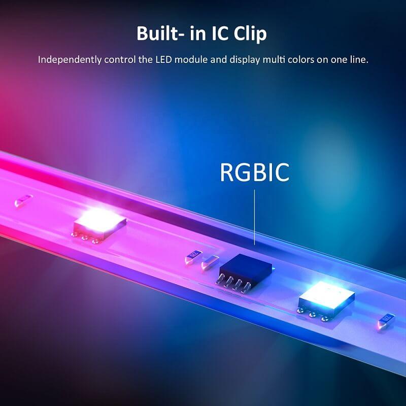 rgbic чип с независим контрол на лед лента