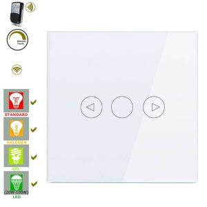 wifi смарт димер ключ с RF дистанционно бял